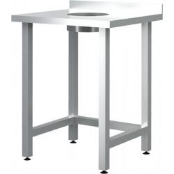 Стол пристенный для сбора отходов CRYSRI ССО 600/600/ССОП Э оц (отверстие в центре) - интернет-магазин КленМаркет.ру