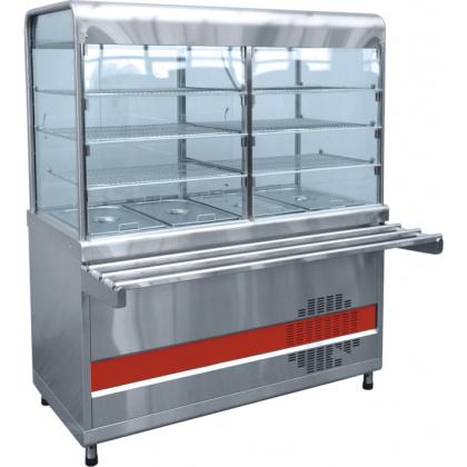 Прилавок-витрина холодильный ABAT «Аста» ПВВ-70КМ-С-03-НШ - интернет-магазин КленМаркет.ру