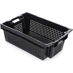 Ящик 600х400х200 мм перфорированный, для овощей и фруктов, ПЭНД [2Д] - интернет-магазин КленМаркет.ру