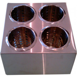 Контейнер для столовых приборов 4 ячейки [FL1702] - интернет-магазин КленМаркет.ру