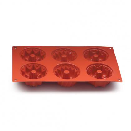 Форма для выпечки «Кекс» с отверстием 295х173 мм Silicon Flex [SF061/N] - интернет-магазин КленМаркет.ру
