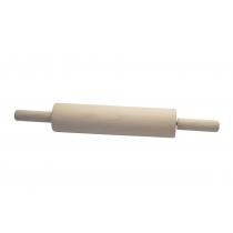 Скалка с вращающимися ручками 300х70 мм, бук