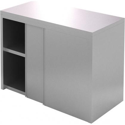 Полка-шкаф настенная закрытая CRYSPI ПКЗ 1200/400 (двери-купе) - интернет-магазин КленМаркет.ру