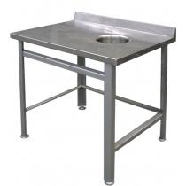 Стол пристенный для сбора отходов СППО 9/6 оц (отверстие справа)