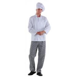 Куртка повара на молнии белая [0295] - интернет-магазин КленМаркет.ру