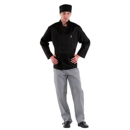 Куртка повара на молнии черная [0295] - интернет-магазин КленМаркет.ру