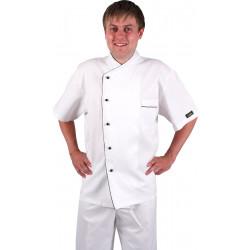 Куртка шеф-повара короткий рукав белая [0299]  - интернет-магазин КленМаркет.ру