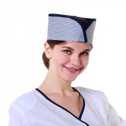 Кокошник синий в полоску [051] - интернет-магазин КленМаркет.ру