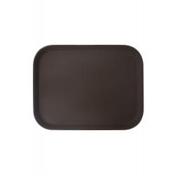 Поднос прорезиненный прямоугольный 500х380х25 мм коричневый [1520CT Brown] - интернет-магазин КленМаркет.ру