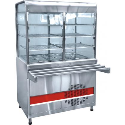 Прилавок-витрина холодильный ABAT «Аста» ПВВ-70КМ-С-02-НШ - интернет-магазин КленМаркет.ру