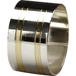 Кольцо для салфеток 42 мм серебро с золотом [DS-С22] - интернет-магазин КленМаркет.ру