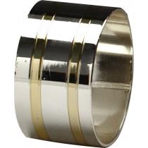 Кольцо для салфеток 42 мм серебро с золотом [DS-С22]