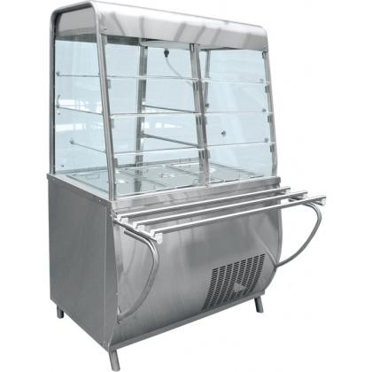 Прилавок-витрина холодильный ABAT «Премьер» ПВВ-70Т-С - интернет-магазин КленМаркет.ру