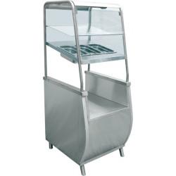 Прилавок для столовых приборов с хлебницей ABAT «Премьер» ПСПХ-70Т  - интернет-магазин КленМаркет.ру