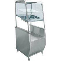 Прилавок для столовых приборов с хлебницей ABAT «Премьер» ПСПХ-70Т