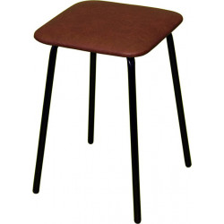 Табурет «Простой» ТМ 7/11-01 с мягким сиденьем (окрашенный каркас) - интернет-магазин КленМаркет.ру