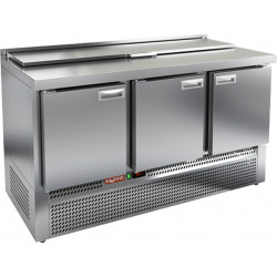 Стол охлаждаемый для салатов SLE1-111GN с крышкой - интернет-магазин КленМаркет.ру