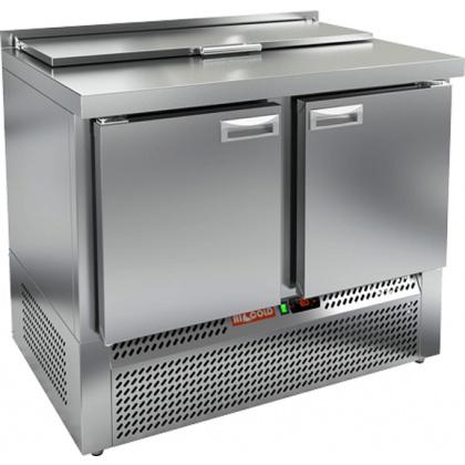 Стол охлаждаемый для салатов SLE1-11GN с крышкой - интернет-магазин КленМаркет.ру