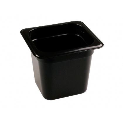 Гастроемкость из полипропилена без крышки GN 1/6 176х162х150 мм черная [422102113] - интернет-магазин КленМаркет.ру