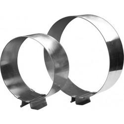 Форма для выпечки «Кольцо» раздвижное 160х300/65 мм, нержавеющая сталь [КОЛразд] - интернет-магазин КленМаркет.ру