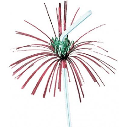 Трубочки  без сгиба разноцветные «Пальма с цветочком» 240 мм 50 шт [6040402] - интернет-магазин КленМаркет.ру