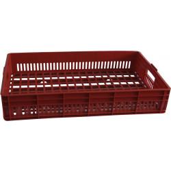 Ящик 740х465х145 мм перфорированный, хлебный, ПЭНД [Х 3.3] - интернет-магазин КленМаркет.ру