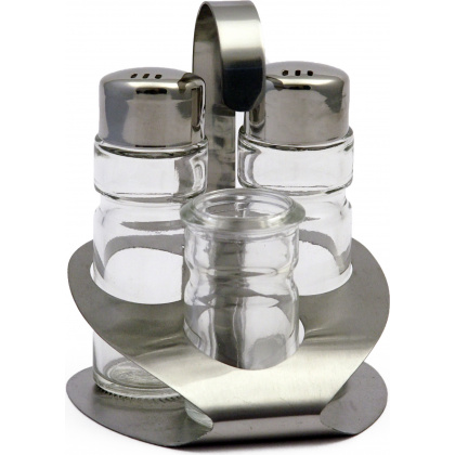 Набор для специй «Family» (соль, перец, зубочистки) Luxstahl [821] - интернет-магазин КленМаркет.ру
