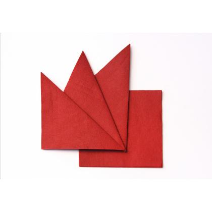 Салфетка бумажная красная 330х330 мм 300 шт - интернет-магазин КленМаркет.ру