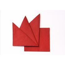 Салфетка бумажная красная 240х240 мм 400 шт