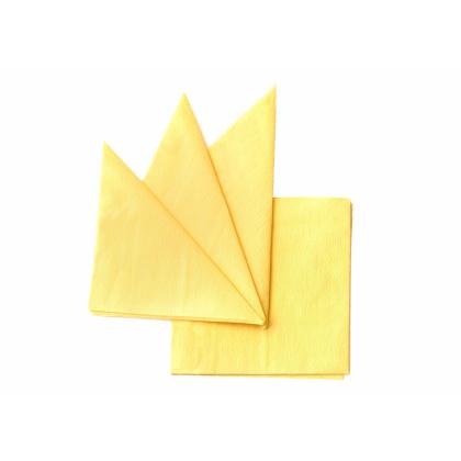 Салфетка бумажная желтая 240х240 мм 400 шт - интернет-магазин КленМаркет.ру