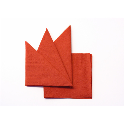 Салфетка бумажная оранжевая 330х330 мм 300 шт - интернет-магазин КленМаркет.ру