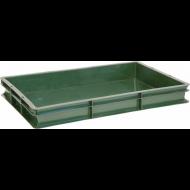 Ящик 600х400х75 мм сплошной, для полуфабрикатов, ПЭНД [ЯП 1.1]