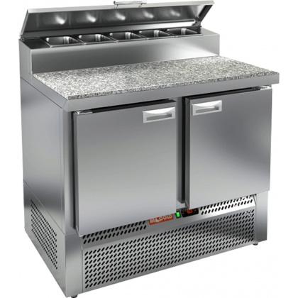 Стол охлаждаемый для пиццы HICOLD PZE2-11/GN (1/6) с гранитной столешницей - интернет-магазин КленМаркет.ру