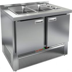 Стол охлаждаемый для салатов SLE3-11GN без крышки - интернет-магазин КленМаркет.ру
