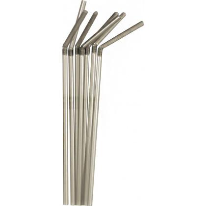 Трубочки со сгибом серебристые 210 мм 1000 шт [6030119] - интернет-магазин КленМаркет.ру