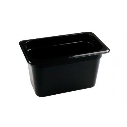 Гастроемкость из полипропилена без крышки GN 1/4 265х162х150 мм черная [422101713] - интернет-магазин КленМаркет.ру
