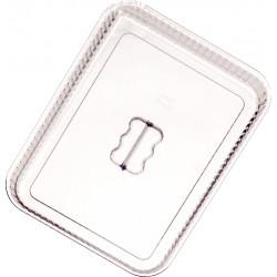 Крышка для салатника «L» с волнистым краем 310х239х35 мм прозрачная [P-043A] - интернет-магазин КленМаркет.ру