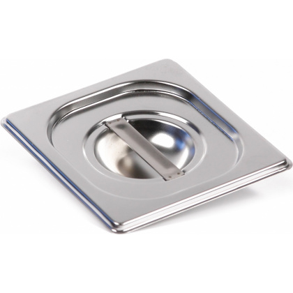 Крышка Luxstahl из нержавеющей стали для GN 1/6 [816-L] - интернет-магазин КленМаркет.ру