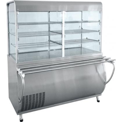 Прилавок-витрина холодильный ABAT «Патша» ПВВ-70М-С-ОК - интернет-магазин КленМаркет.ру
