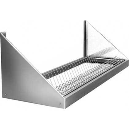 Полка настенная для сушки посуды ПНТ 6/3 (на 22 тарелки) - интернет-магазин КленМаркет.ру