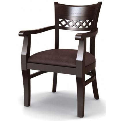 Стул «Эдинбург» с мягким сиденьем и подлокотниками (деревянный каркас) - интернет-магазин КленМаркет.ру