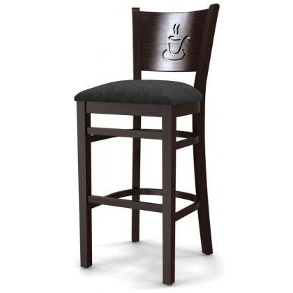 Стул барный «Бристоль» с мягким сиденьем (деревянный каркас) - интернет-магазин КленМаркет.ру