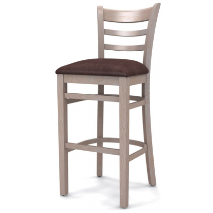 Стул барный «Оксфорд» с мягким сиденьем (деревянный каркас) - интернет-магазин КленМаркет.ру