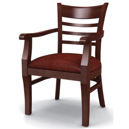 Стул «Оксфорд» с мягким сиденьем и подлокотниками (деревянный каркас) - интернет-магазин КленМаркет.ру