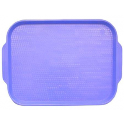 Поднос столовый из полистирола 450х355 мм голубой [1730] - интернет-магазин КленМаркет.ру
