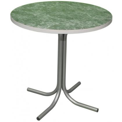 Стол СТ 7 с круглой столешницей из ДСП, облицованная пластиком  - интернет-магазин КленМаркет.ру