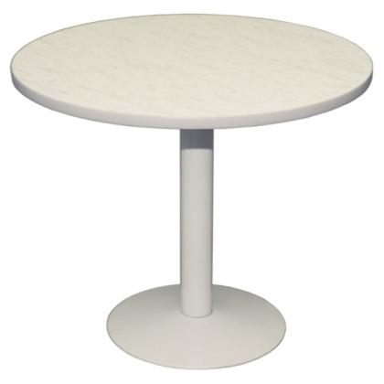 Стол СТ 8 с круглой столешницей из ДСП, облицованная пластиком - интернет-магазин КленМаркет.ру