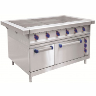 Плита электрическая ABAT ЭП-6ЖШ-К-2/1 шестиконфорочная с жарочным шкафом (полностью нерж, серия 900)