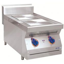 Плита электрическая ABAT ЭПК-27Н двухконфорочная без жарочного шкафа (полностью нерж, серия 700) - интернет-магазин КленМаркет.ру