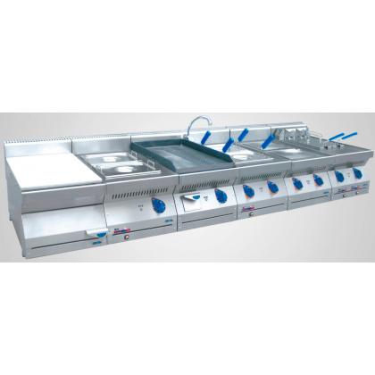Жарочная поверхность (аппарат контактной обработки) ABAT АКО-80Н гладкая/рифленая (серия 700) - интернет-магазин КленМаркет.ру